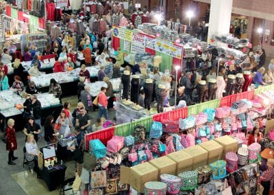 Overhead image of vendors at the Norton Shows
