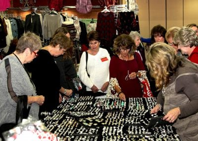 Large crowd shopping for wholesale jewelry