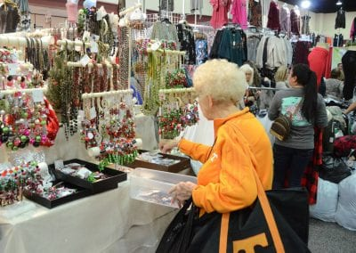 Retail owner shopping for wholesale jewelry